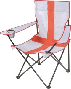 Simple Camping folding Beach Chair Outdoor Fishing Chair with Ice Bag and Litter Caddie