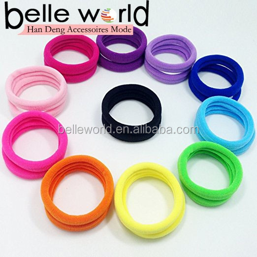 Fabric Bright Color High Super Elasticity Elastic Bands Strong Seamless Elastic Hair Tie