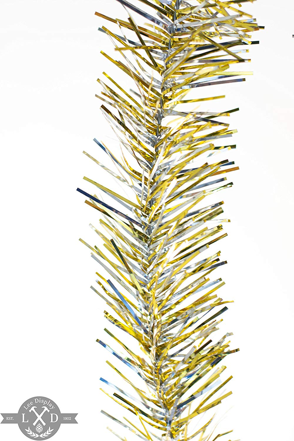 get quotations 25ft gold silver tinsel garland silver gold tinsel garland 3in width tinsel garlands for christmas
