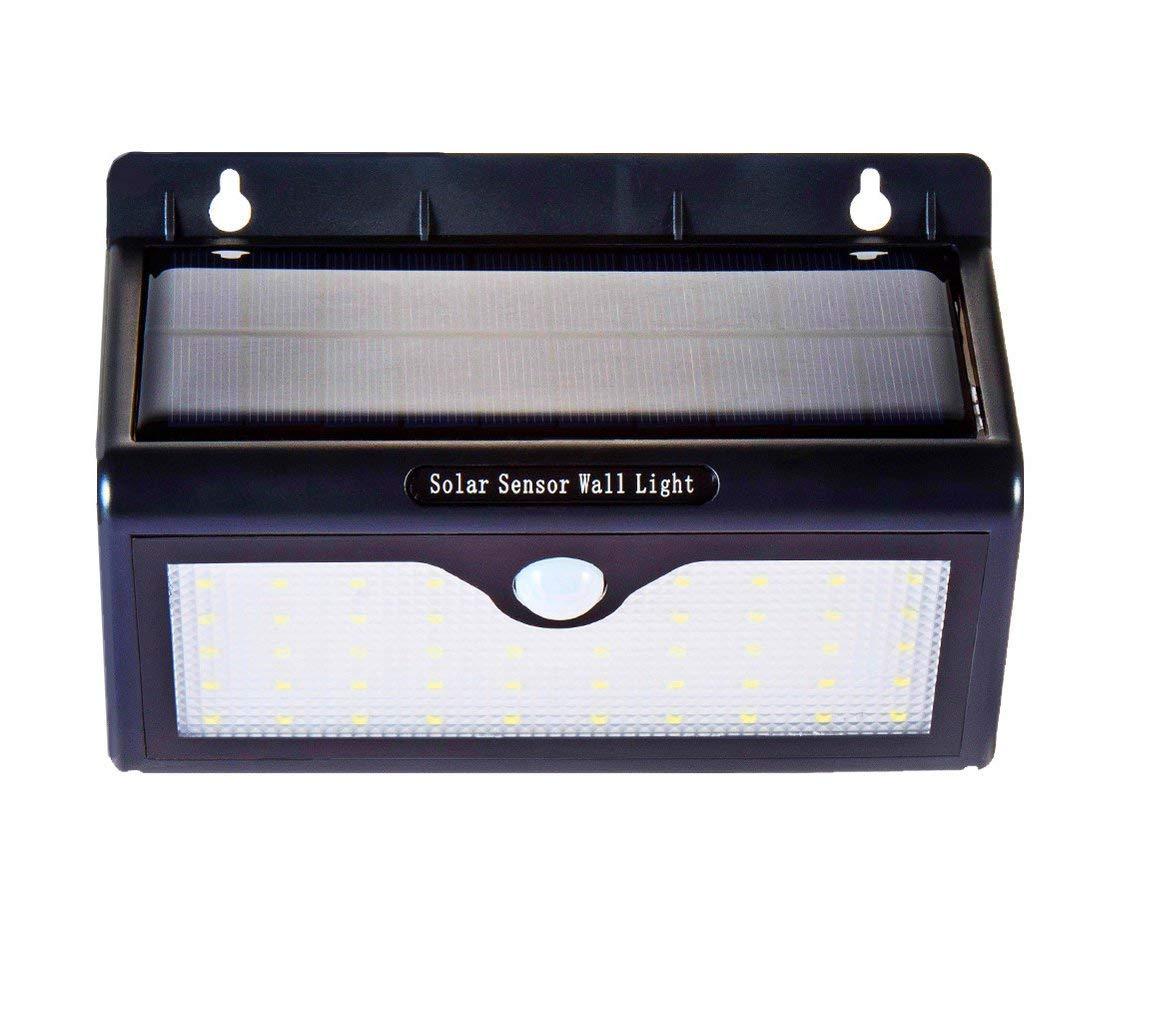 SUNKY Solar Sensor Night Light, 46 LED lights Wireless Outdoor Solar Powered Motion Sensor Lighting LED Security Waterproof Wall Spotlights for Patio, Landscape, Flood, Yard, Pool, Garage Door