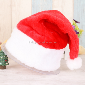 novelty christmas light up led santa hat party supply led flashing christmas hat