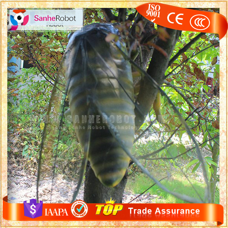 SH-F180 Tree Decoration Fiberglass Animal Figure, Vivid Cicada