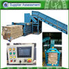 Automatic horizontal press baling machine for cardboard
