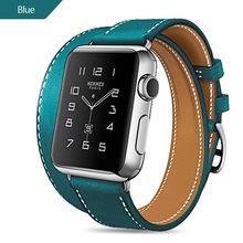Экстра длинный Браслет из натуральной кожи, двойной тур, кожаный ремешок, ремешок для часов для Apple Watch, серия 4, 3, 2, 1, 38 мм, спортивный, 42 мм для ...(China)