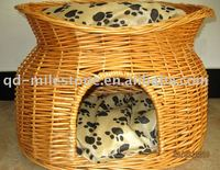 Decorative Wicker dog kennel for pet