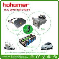 5KW brushless electric car motor kit for smart electric car