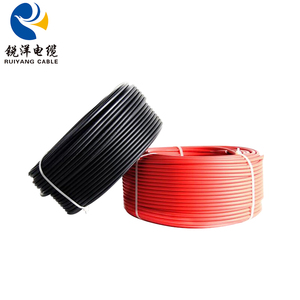 Red Black 35mm Copper Double Pvc Insulated Solar Cable