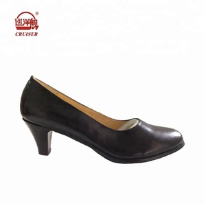 black genuine leather women office shoes ladies fashion shoes boots