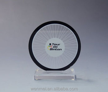 Customized acrylic awards with logo printing