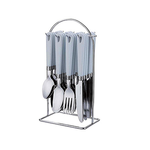 16pcs hanging flatware set plastic handle stainless steel cutlery set