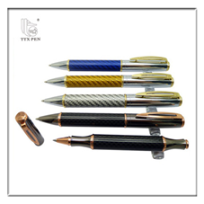 Metal carbon fibre pen 2016 new stationery items high grade metal pen sets