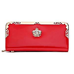 Women Long Wallet - SODIAL(R)2016 Fashion PU Women Wallet Multifunctional Zipper Long Wallet Vintage Ladies Clutch Thin Cheap Coin Purse Card Holder£¨Red£