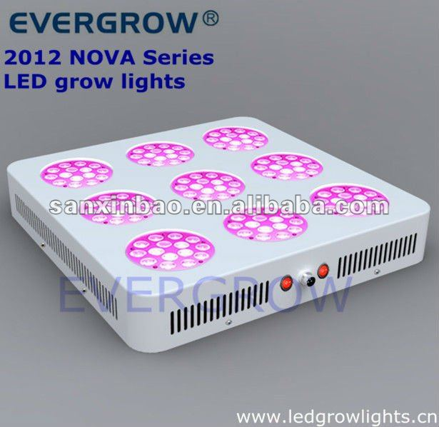 2012 simple structure T9 NOVA Series 3x3 two control led grow light t8 tube