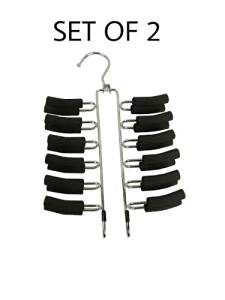 Friction Tie Rack and Scarf Hanger - Non-slip (1) (1-Pack) (2-Pack, Tie Rack and Scarf)