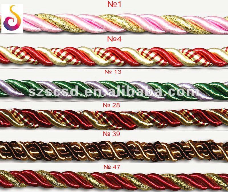Rayon Twist Cord For Decoration Buy Rayon Twist Cord Decorative Twisted Cord Make Twisted Cord Product On Alibaba Com