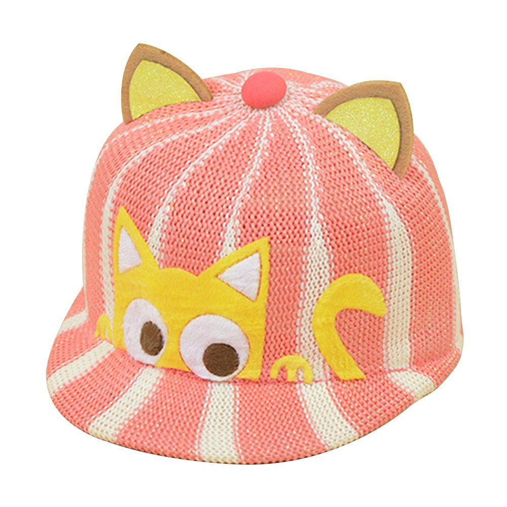 4883de75035 Get Quotations · Baiyu Fashion Summer Baseball Caps Adjustable Children  Mesh Cat Ears Baseball Cap Unisex Breathable Sun Hat