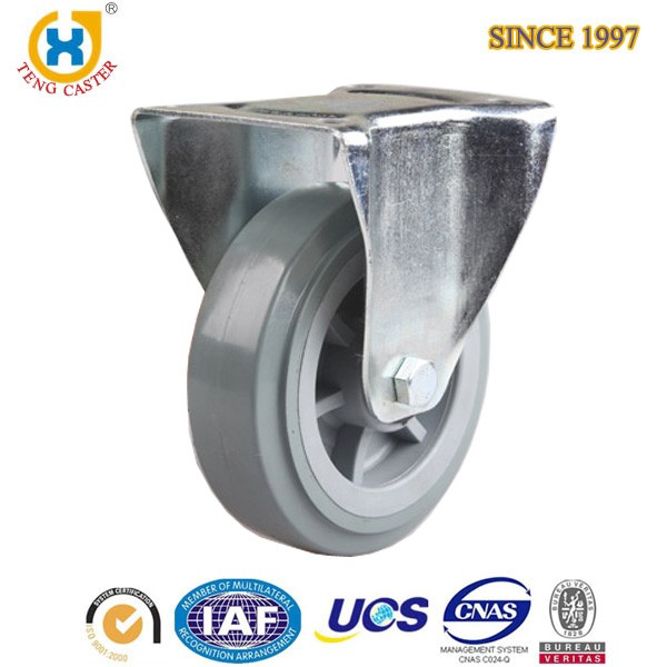 6 Inch Industrial Heavy Duty Rigid Caster Wheels With Roller Bearing,250KG Capacity