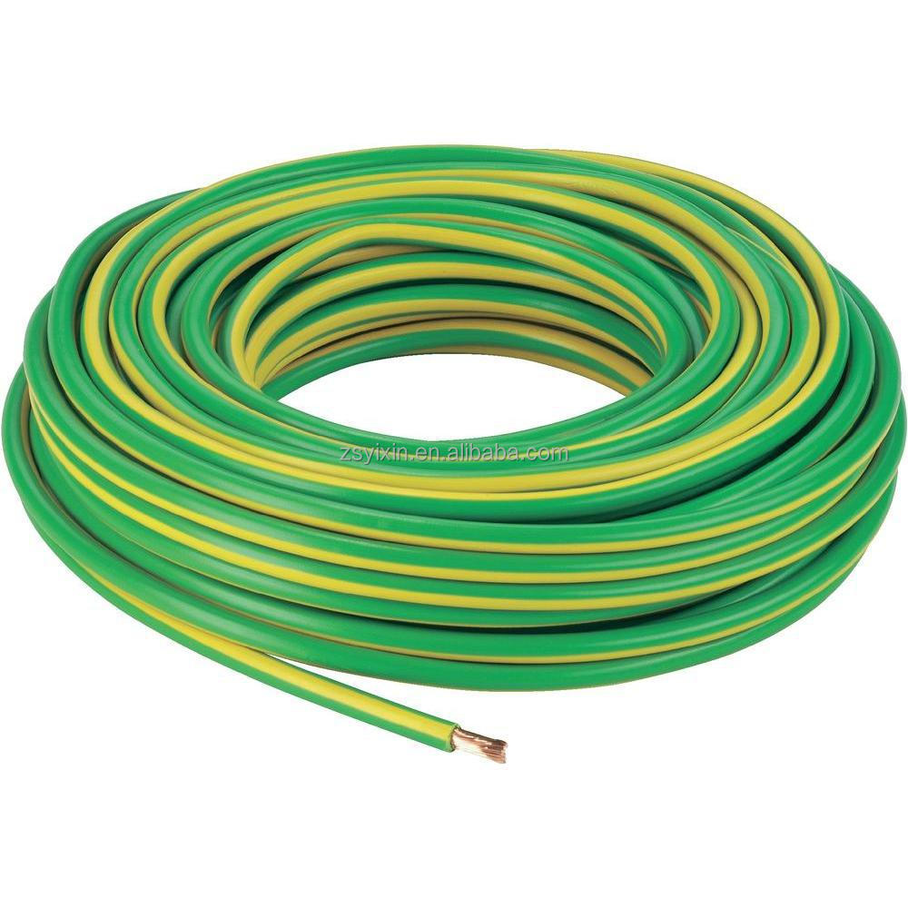 Yellow Or Yellow And Green Single Copper Wire 1 5mm