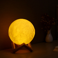 USB 3d table lamp moon night lamp room decoration light lunar moon lamp for kids gift