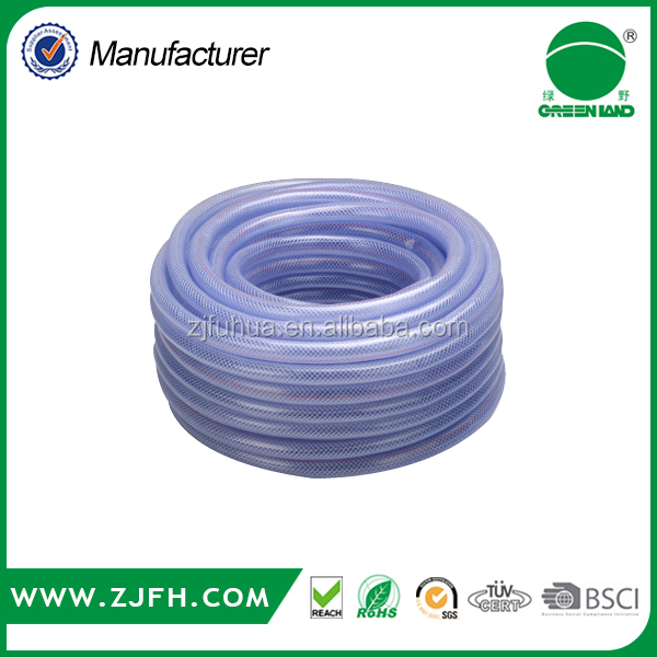 Flexible <strong>PVC</strong> Transparent Braided Reinforced Hose Polyester fiber braided reinforced <strong>pvc</strong> hose best quality in alibaba