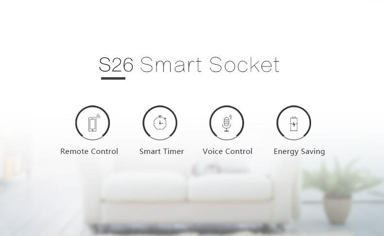 Sonoff S26 Smart Socket Remote Control Wifi Wireless Power Socket  Cn/us/eu/uk/au Plug Works For Home - Buy Smart Home Socket,Wifi Smart  Outlet,Wifi