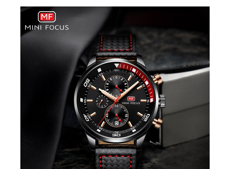 MINI FOKUS Top Fashion Quarz Armbanduhr 2018 Luxusmarke Herrenuhr