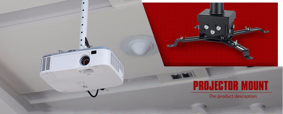 360 Degrees Swivel Motorized Projector Ceiling Wall Mount