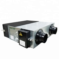 Eco design CE certified hotel forced fresh air ventilator unit system with heat recovery