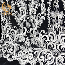Elegant Nigerian Tulle French Lace Fabric Embroidery African Bridal