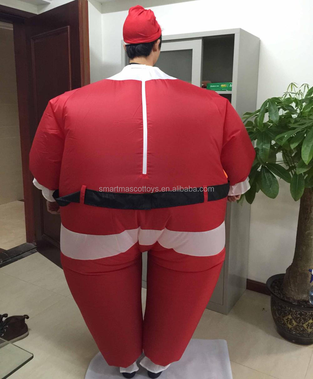 Waterproof inflatable santa claus christmas mascot costume