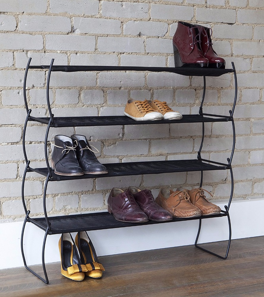 Imelda Stackable Shoe Rack, Black