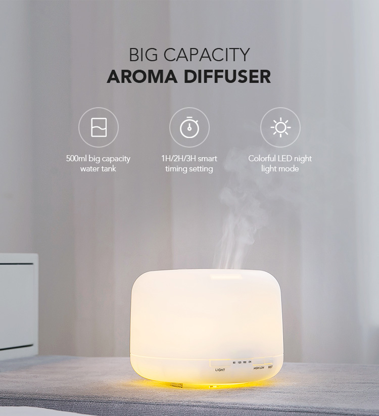 Commercial Ultrasonic 500ml Large Capacity Oil Diffuser Machine,Aromatherapy Essential Air Humidifier Aroma Diffuser