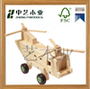 wholesale craft natural pine handmade helicopter children wooden toy