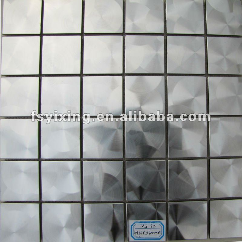 Ms32 d coratif bross couleur argent en acier inoxydable for Dosseret aluminium cuisine