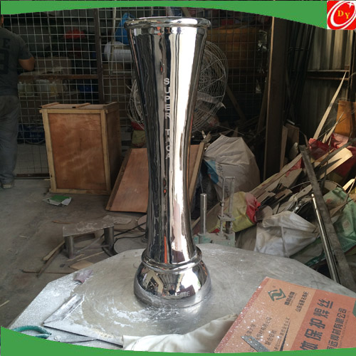 2015 New Customized design stainless steel cup , stainless steel football trophy sculpture