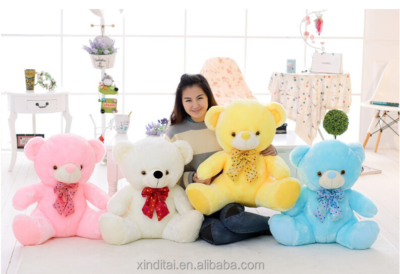 Cute Light Up Plush Toy Teddy Bear With Music Device For Promotion ...