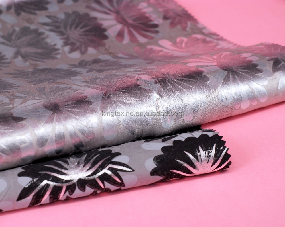100% silk fabric organza waterproof printed silk chiffon fabric