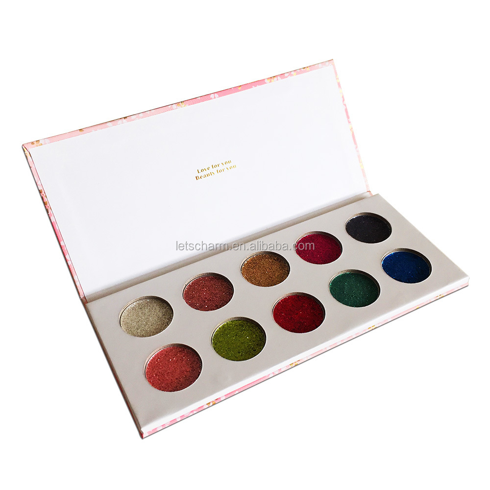 Create your own brand high pigment pressed glitter eyeshadow palette