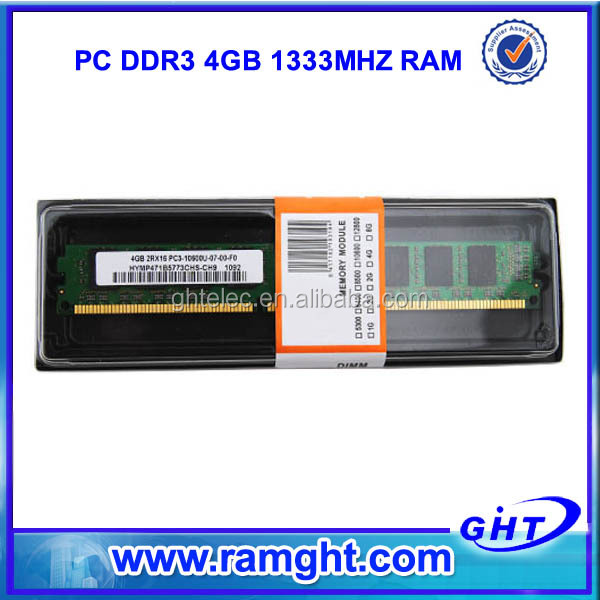 long dimm 1333mhz used ddr3 4gb desktop ram at factory price