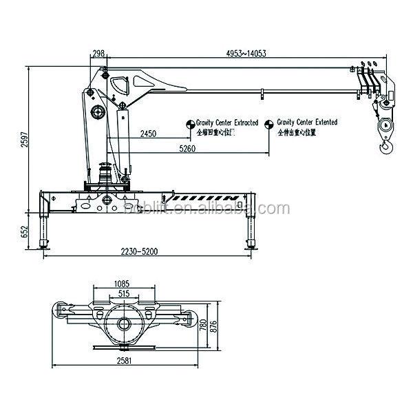 Telescopic Crane Components : Telescopic boom trailer mounted crane ton sq sa buy