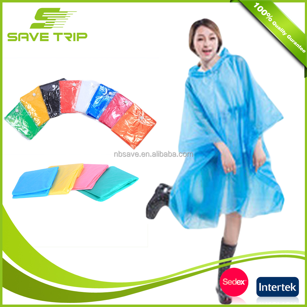 Corful rain poncho supprier disposable women fashionable raincoat