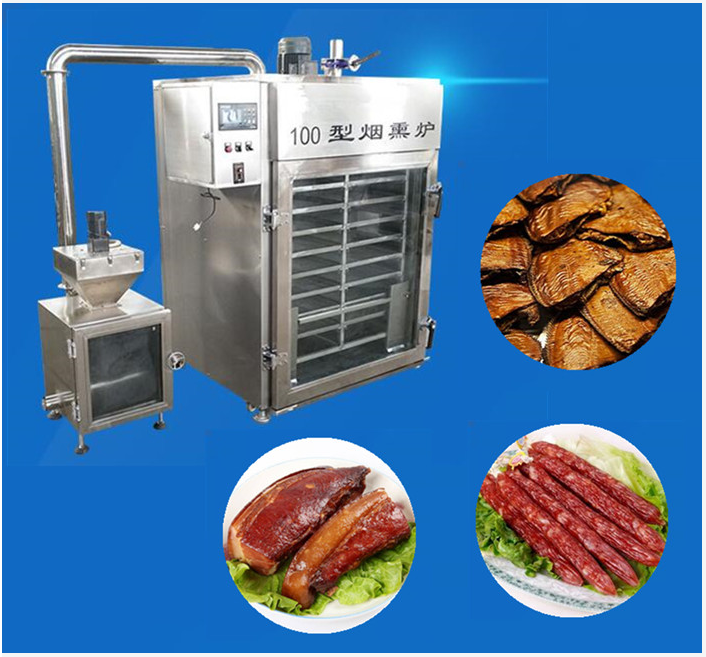 industrial smokehouse for fish /combined smokehouse with smoking + steaming + roasting (oven) function