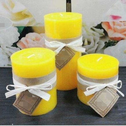 Promotion Logo Custom Parties Pure Colored Scented Pillar Candles