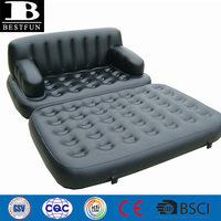 heavy duty thick PVC inflatable 5-in-1 sofa bed durable vinyl comfortable blow up multifunction air sofa lounge