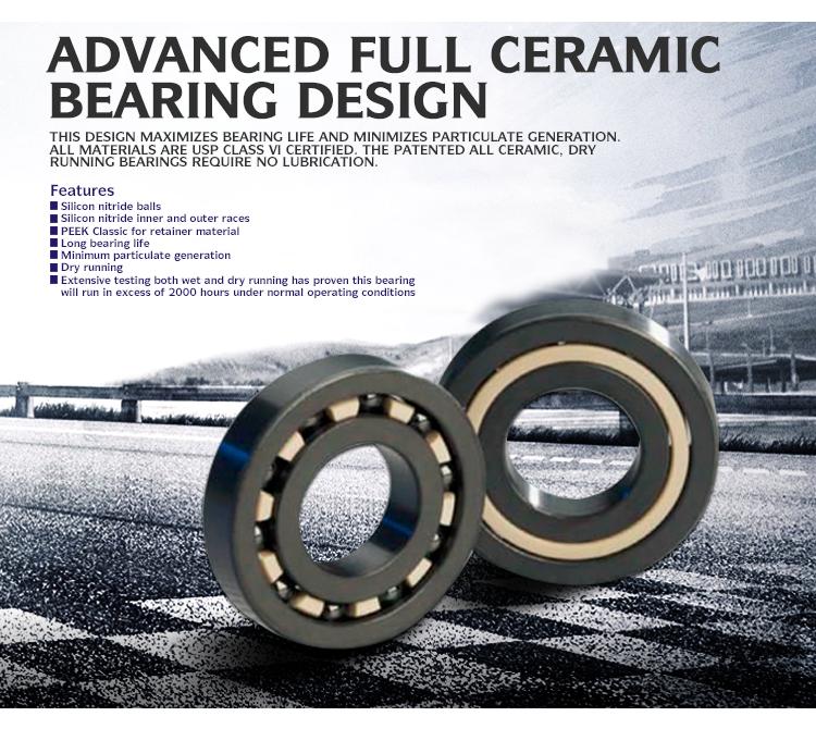 Advanced Full Ceramic Bearing 6006 Ceramic Ball Bearing Made In ...