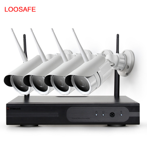 100 meters 960P long distance outdoor wireless surveillance camera system 4ch wifi nvr kits cctv kits night vision camera