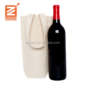 Eco China Factory reusable fashion portable Customized cotton wine bottle bag