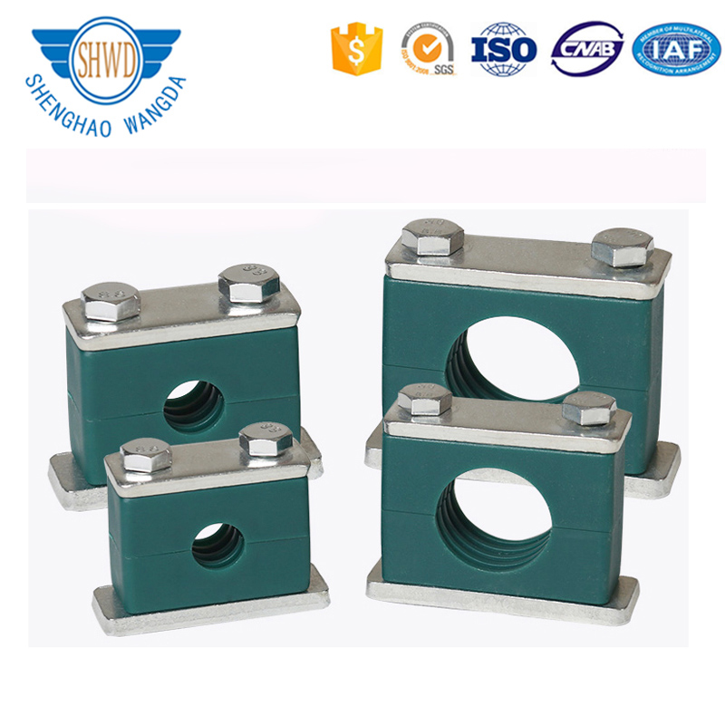Din 3015 Stainless steel Stauff Standard Light Heavy Twin Double Plastic Tube/ Hose Clamp Hydraulic Pipe Clamps