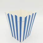 Wholesale stock blue stripes paper popcorn box cup of popcorn