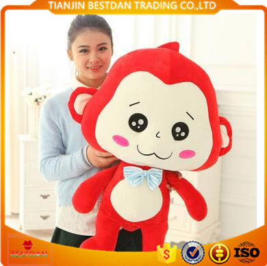 Bestdan china custom logo mascot new design festival gift plush toy monkey